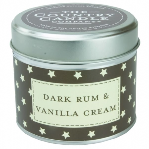 Dark Rum And Vanilla Cream Candle In A Tin